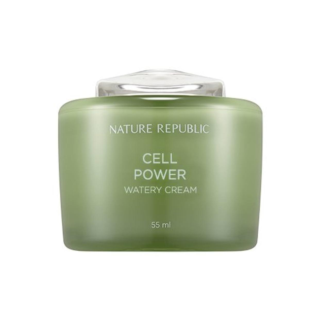 破滅スマート寝てるNature Republic Cell Boosting Watery Cream 55ml / ネイチャーリパブリックセルブースティングウォーターリークリーム 55ml [並行輸入品]