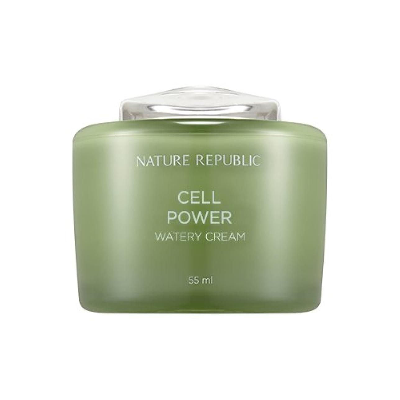 机ソーダ水自信があるNature Republic Cell Boosting Watery Cream 55ml / ネイチャーリパブリックセルブースティングウォーターリークリーム 55ml [並行輸入品]