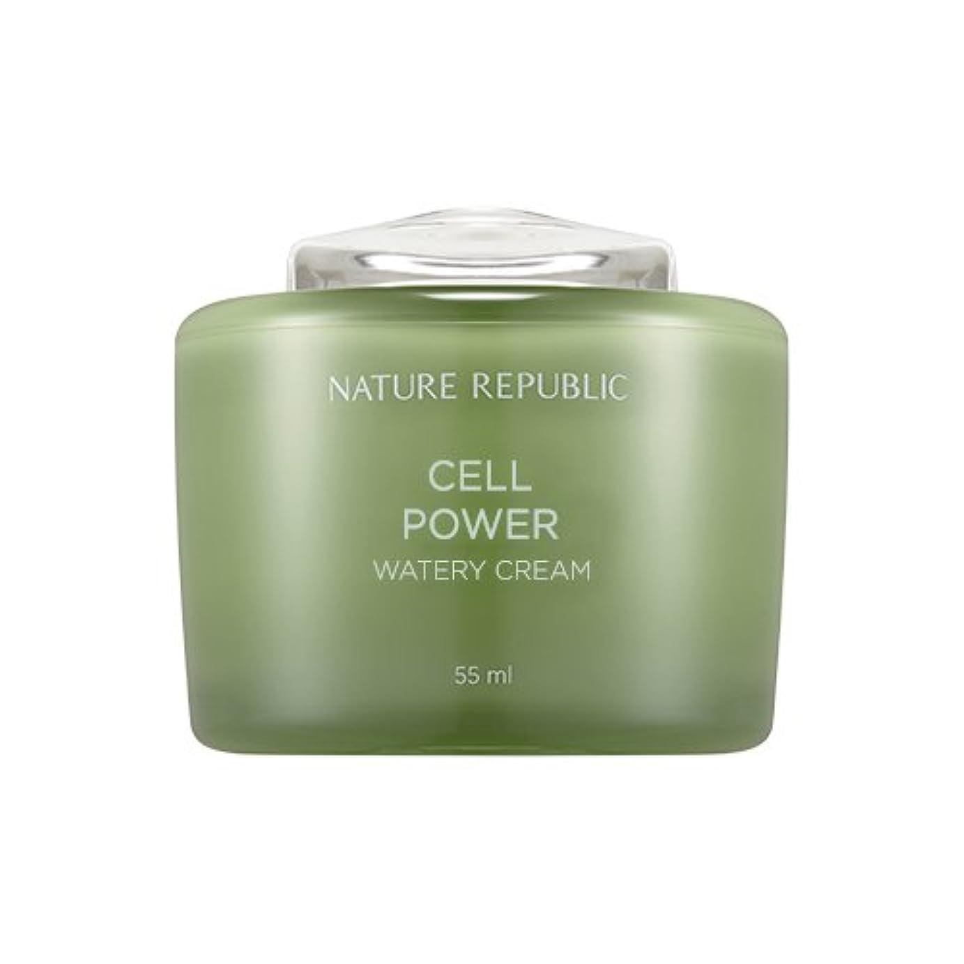 イデオロギー聡明なのでNature Republic Cell Boosting Watery Cream 55ml / ネイチャーリパブリックセルブースティングウォーターリークリーム 55ml [並行輸入品]