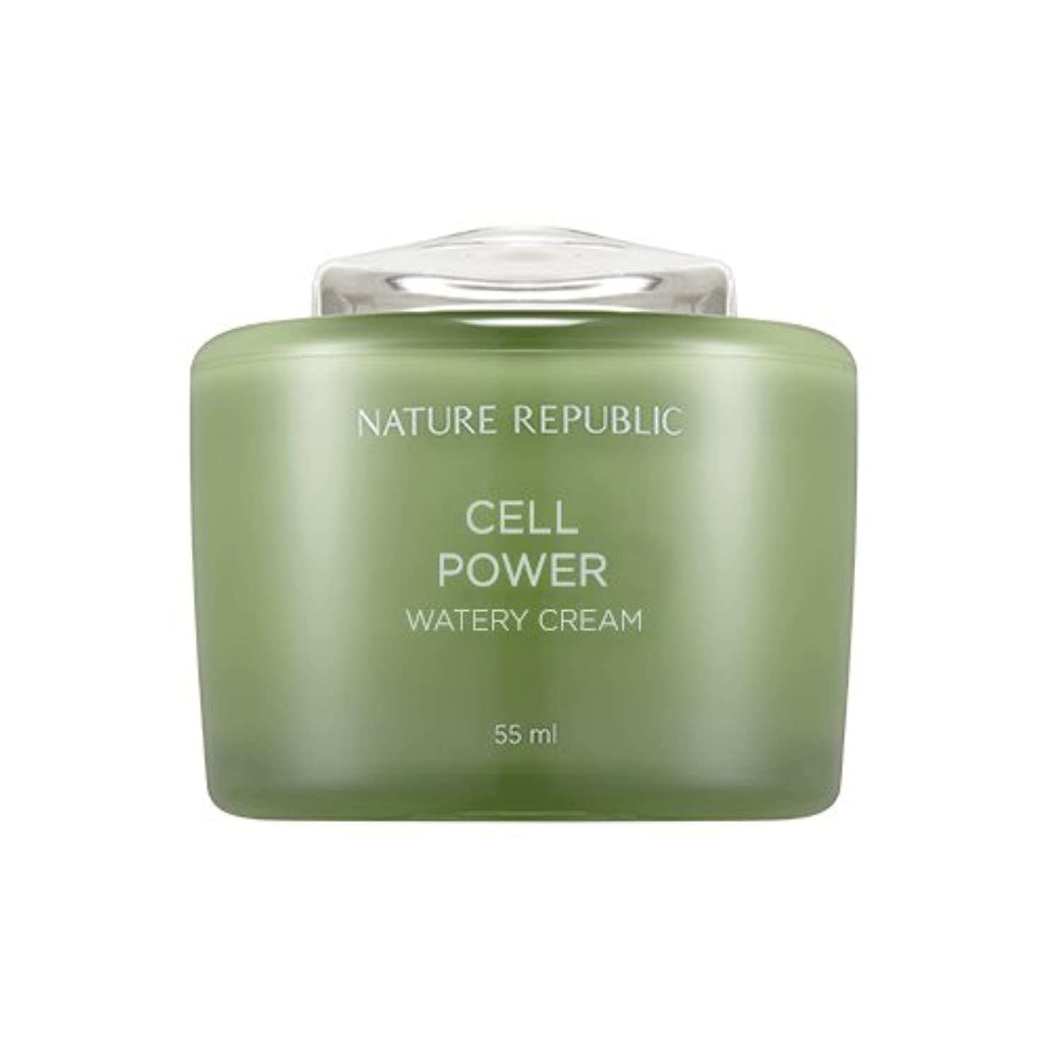 魔術呼吸待ってNature Republic Cell Boosting Watery Cream 55ml / ネイチャーリパブリックセルブースティングウォーターリークリーム 55ml [並行輸入品]