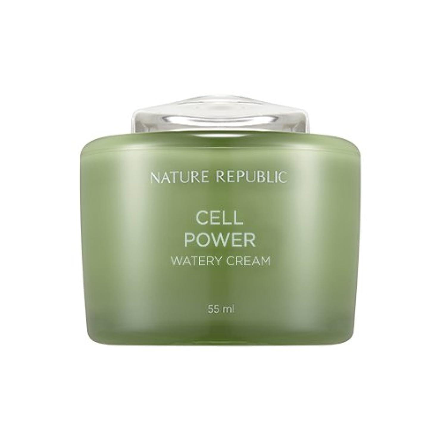 無声で転倒ポルトガル語Nature Republic Cell Boosting Watery Cream 55ml / ネイチャーリパブリックセルブースティングウォーターリークリーム 55ml [並行輸入品]