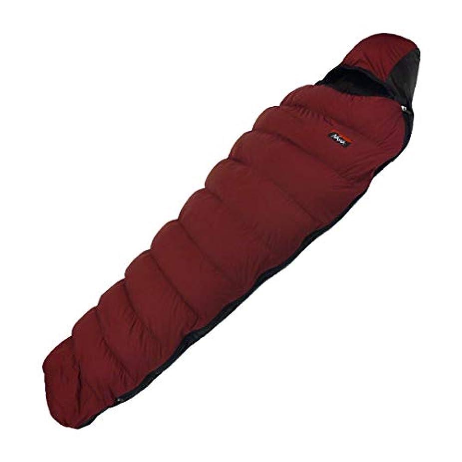 NANGA(ナンガ) 寝袋 アウトレット訳ありダウンシュラフ300STD 最低使用温度-4度 ダークレッド 左ジッパー