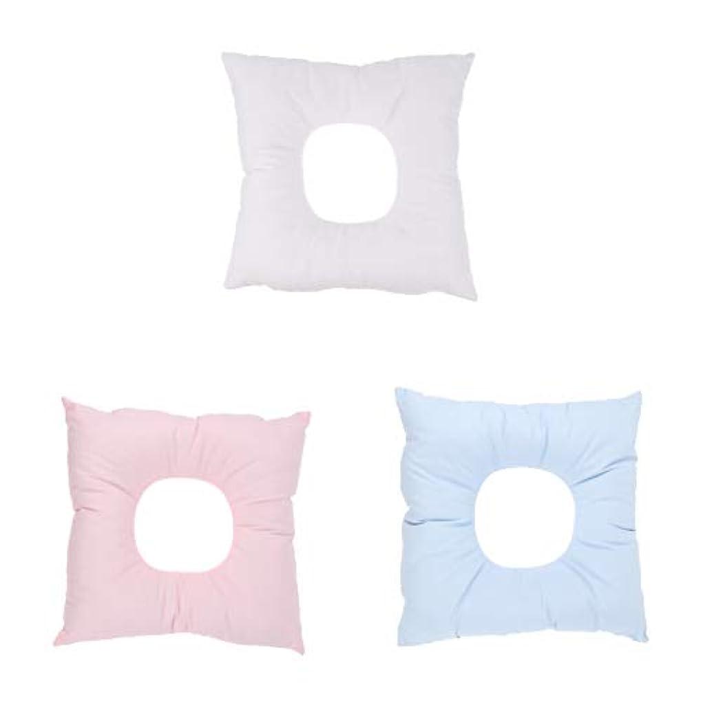 海軍相対サイズに顔マクラ マッサージ枕 顔枕 クッション ソフトフォーム サロン スパ マッサージ用 快適 3個入