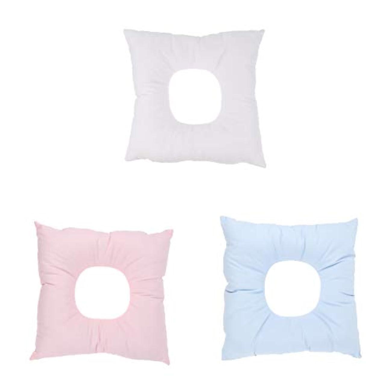 空中のベンチャー顔マクラ マッサージ枕 顔枕 クッション ソフトフォーム サロン スパ マッサージ用 快適 3個入