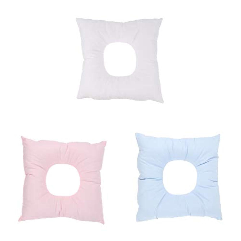 経歴常に記念品F Fityle 顔マクラ マッサージ枕 顔枕 クッション ソフトフォーム サロン スパ マッサージ用 快適 3個入