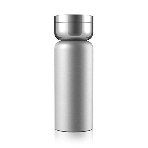 水筒 おしゃれ 真空断熱 ウォーターボトル スポーツボトル ケータイマグ アウトドアボトル ステンレス マグボトル ステンレスボトル 魔法瓶 ジャグ 水筒 直飲み 600ml 薬ケース付けシルバー