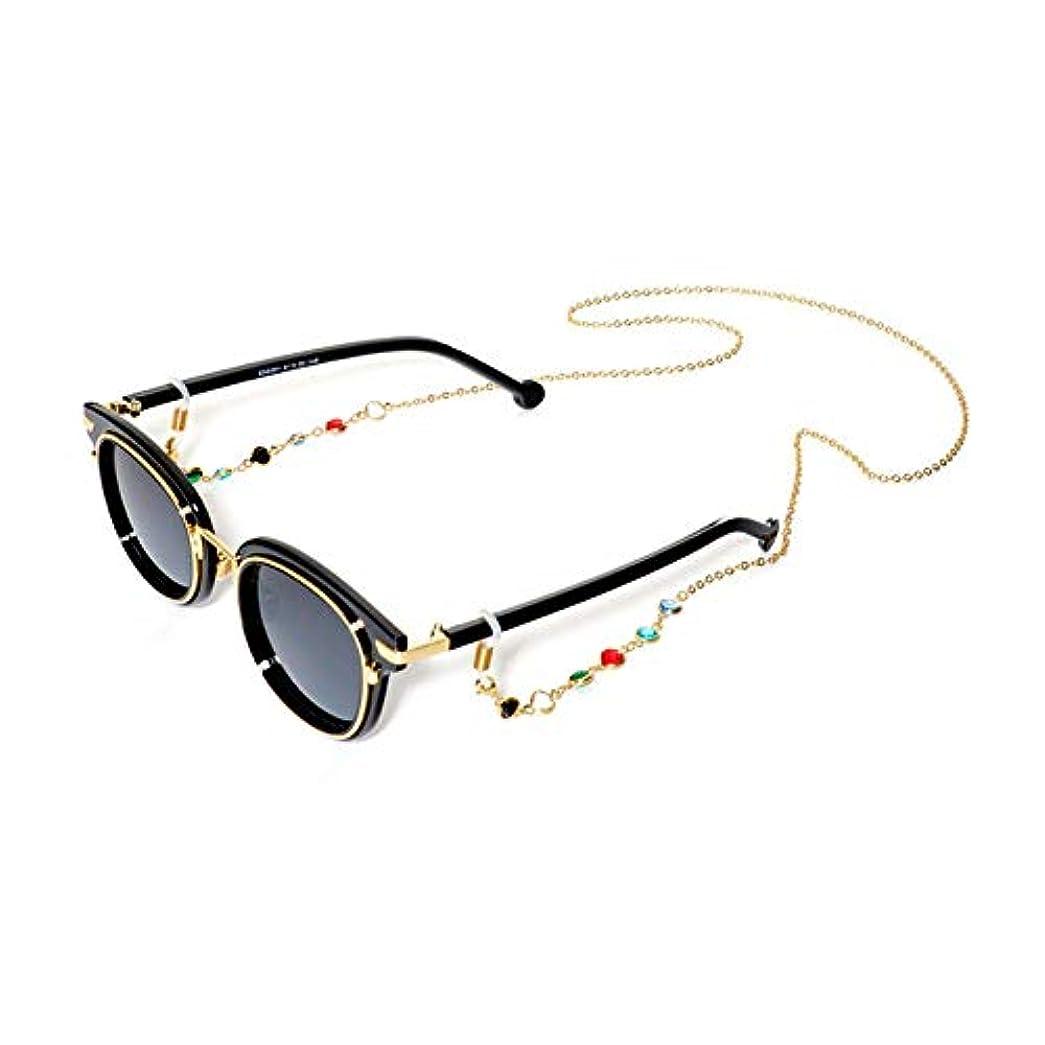 冷酷なアラブ人生理BSTOPSEL ファッションジェムメガネチェーンメガネ老眼鏡メガネメガネホルダーストラップストラップ