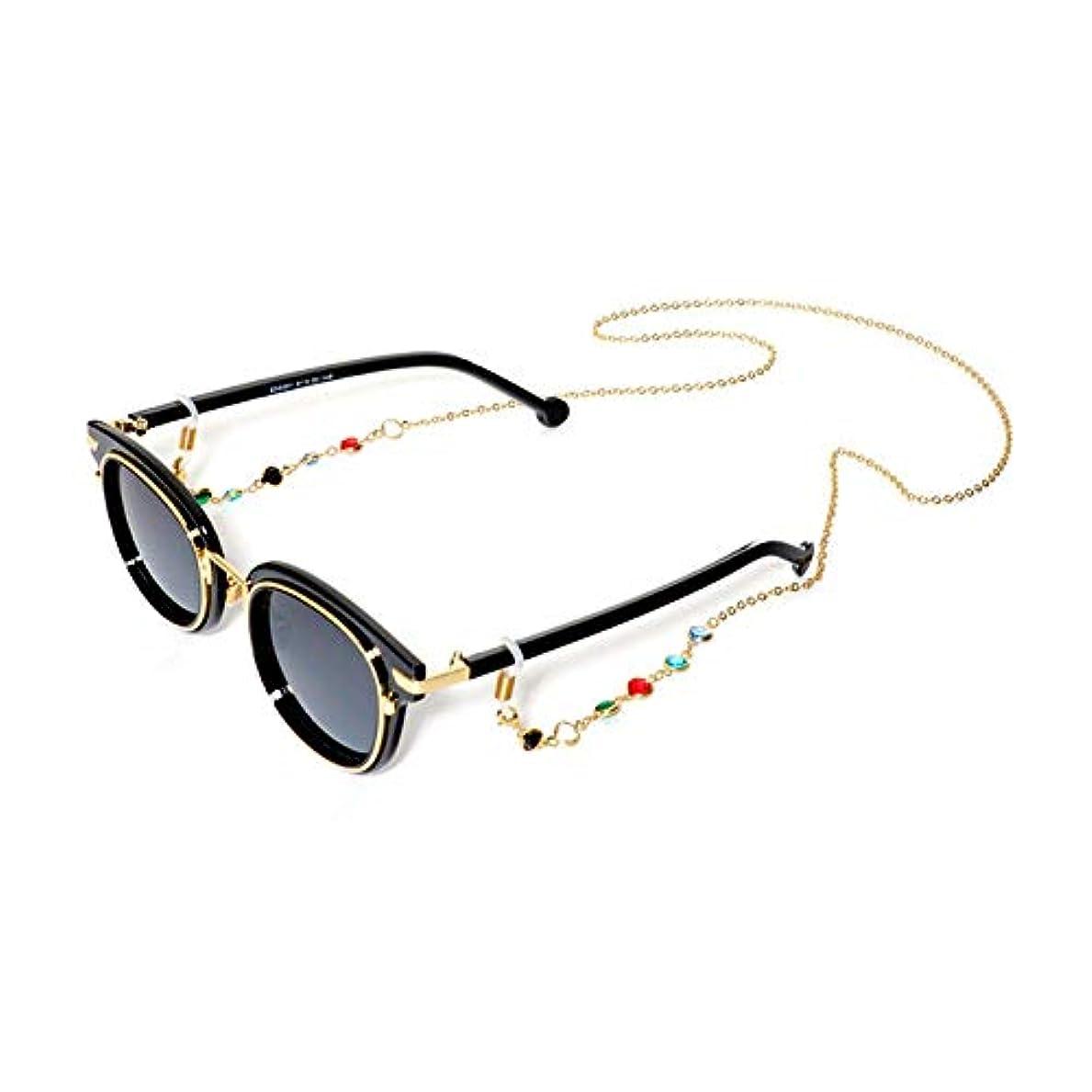 同級生鋼規制BSTOPSEL ファッションジェムメガネチェーンメガネ老眼鏡メガネメガネホルダーストラップストラップ