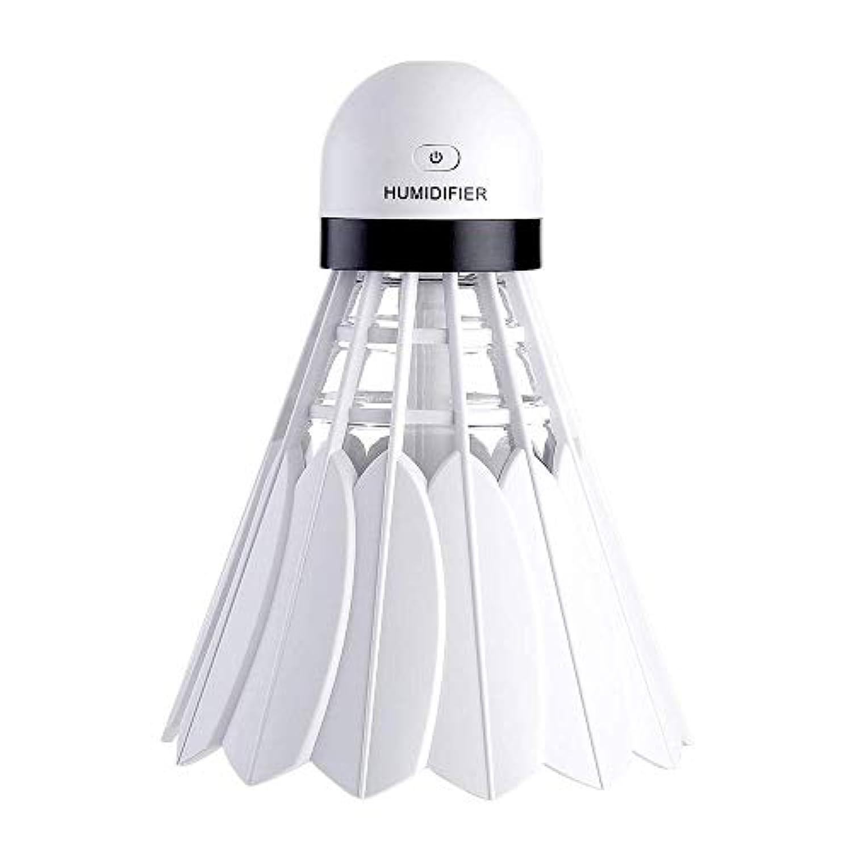 脚本家感情のパステル空気加湿器 - エッセンシャルオイルディフューザー - USBナイトライトポータブルバドミントンエアディフューザー - 冷たい霧発生ガス - 車/家/SPA用
