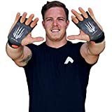 Bear KompleX 3 Hole Carbon Hand Grips and Gymnastics Grips Great for Cross Fitness, pullups, Weight Lifting, Chin ups, Training, Exercise, Kettlebell