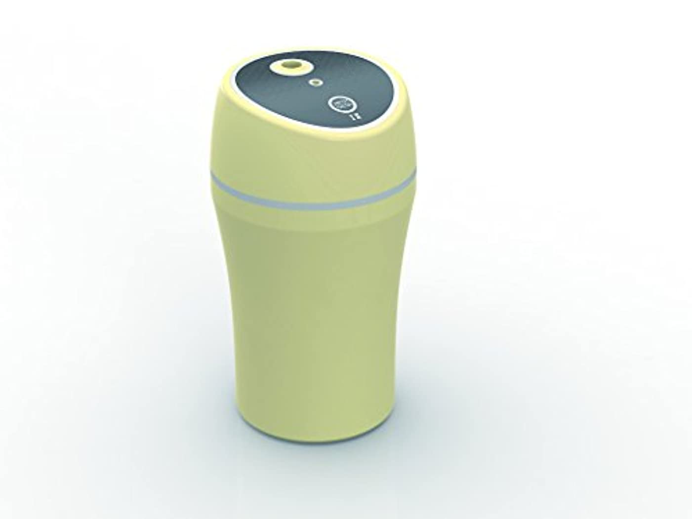 KEIYO 車でもオフィスでも自宅でも!DC/USB 2WAY対応 超音波式 USBミニ加湿器 AN-S014 ROOM&CAR アロマディフューザー 車載用加湿器 ドリンクホルダー収納タイプ 超音波式加湿器 (ベージュ)