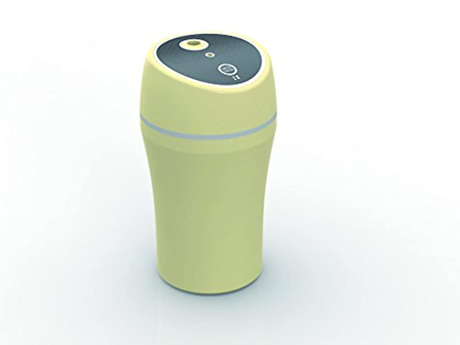 小説イサカマーキングKEIYO 車でもオフィスでも自宅でも!DC/USB 2WAY対応 超音波式 USBミニ加湿器 AN-S014 ROOM&CAR アロマディフューザー 車載用加湿器 ドリンクホルダー収納タイプ 超音波式加湿器 (ベージュ)