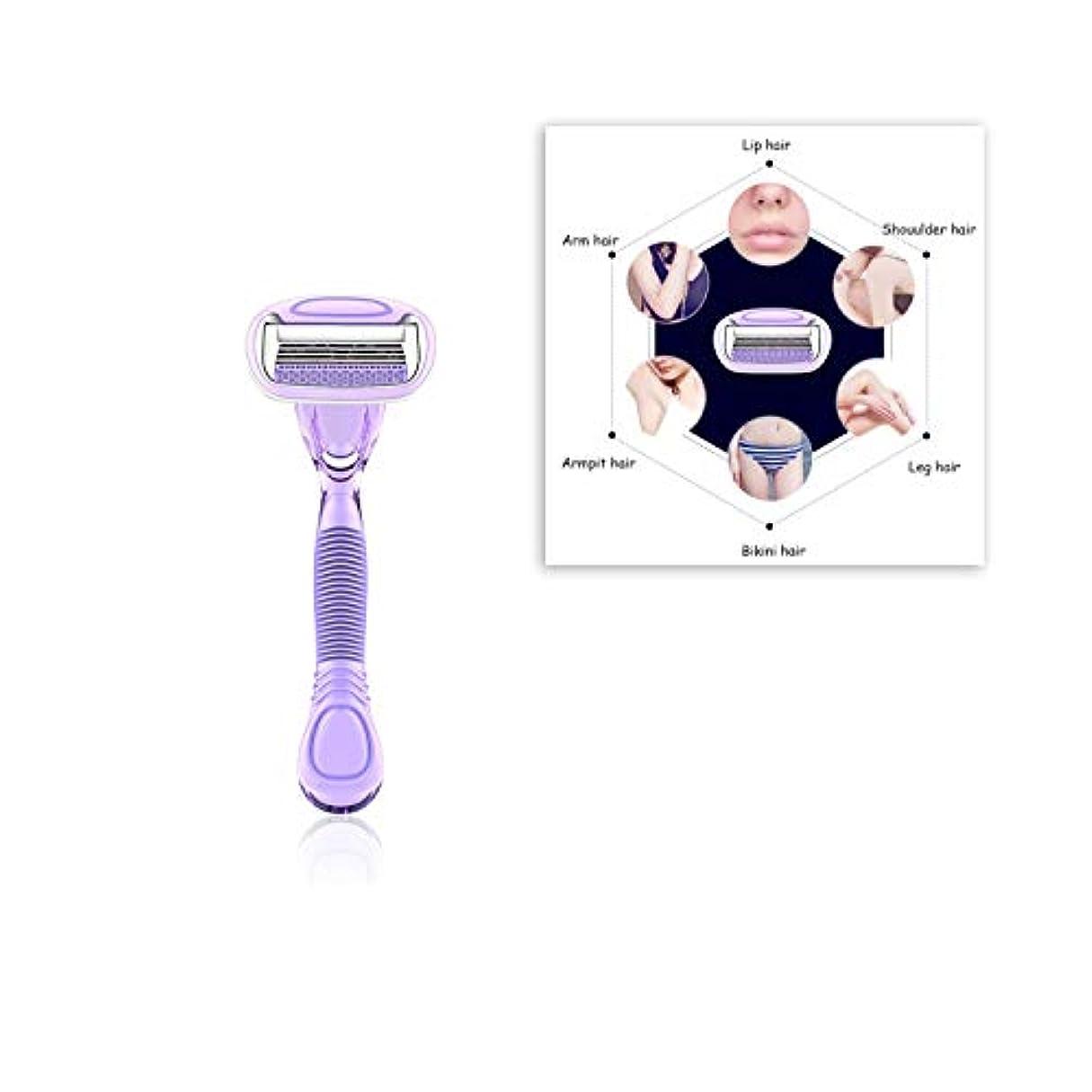祭り測定可能ソロ脱毛器 - 手動脱毛器、かみそり、体、顔、ビキニ、脇の下のための女性の無痛脱毛剤