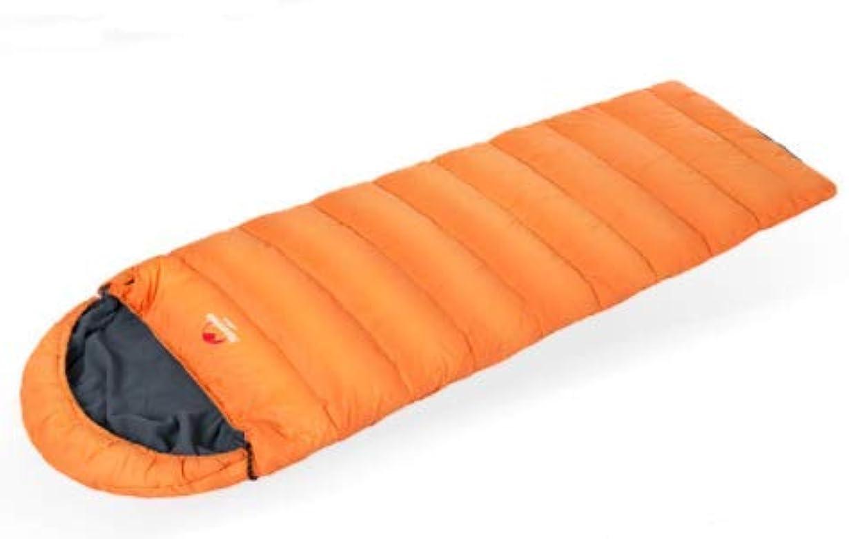 現実方法食品寝袋屋外キャンプ冬の厚い暖かいアヒルダウン超軽量ポータブル寝袋 (Color : Orange)
