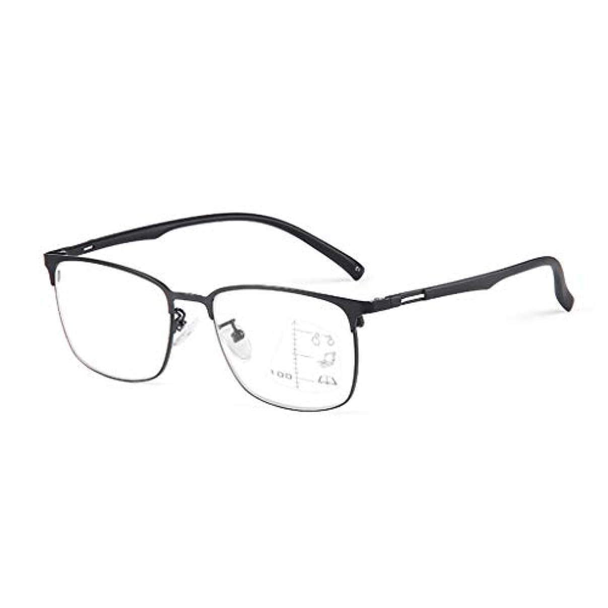 インテリジェントなマルチフォーカス老眼鏡、高解像度アンチブルーゴーグル、近距離および遠距離用の疲労防止メガネ、快適な着用のための超軽量素材