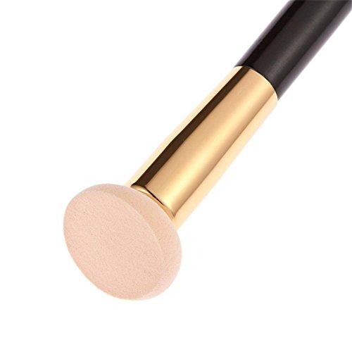 パフ ブラシ スポンジブラシ 化粧ブラシセット 高級化粧パフ メイクブラシセット (カラー)