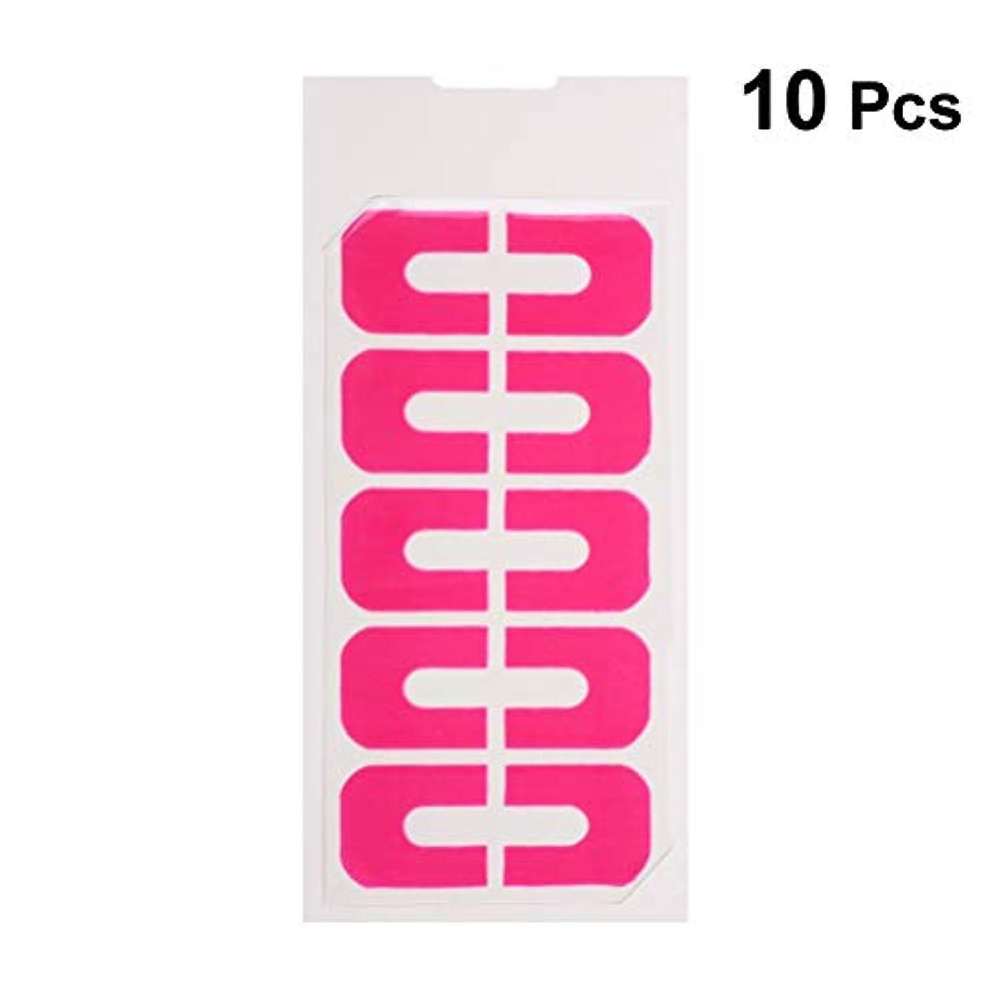 電気技師適度な再生的Lurrose ネイルポリッシュプロテクターステッカーネイルアートキューティクルガードスキンバリアプロテクタージェルネイルチップ10枚
