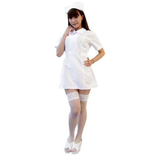 白衣の天使ナース服 コスチューム 白 レディース -