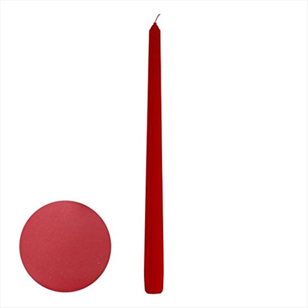 レンジ脅かす蒸発するカメヤマキャンドル(kameyama candle) 12インチテーパー 「 ダークレッド 」 12本入り