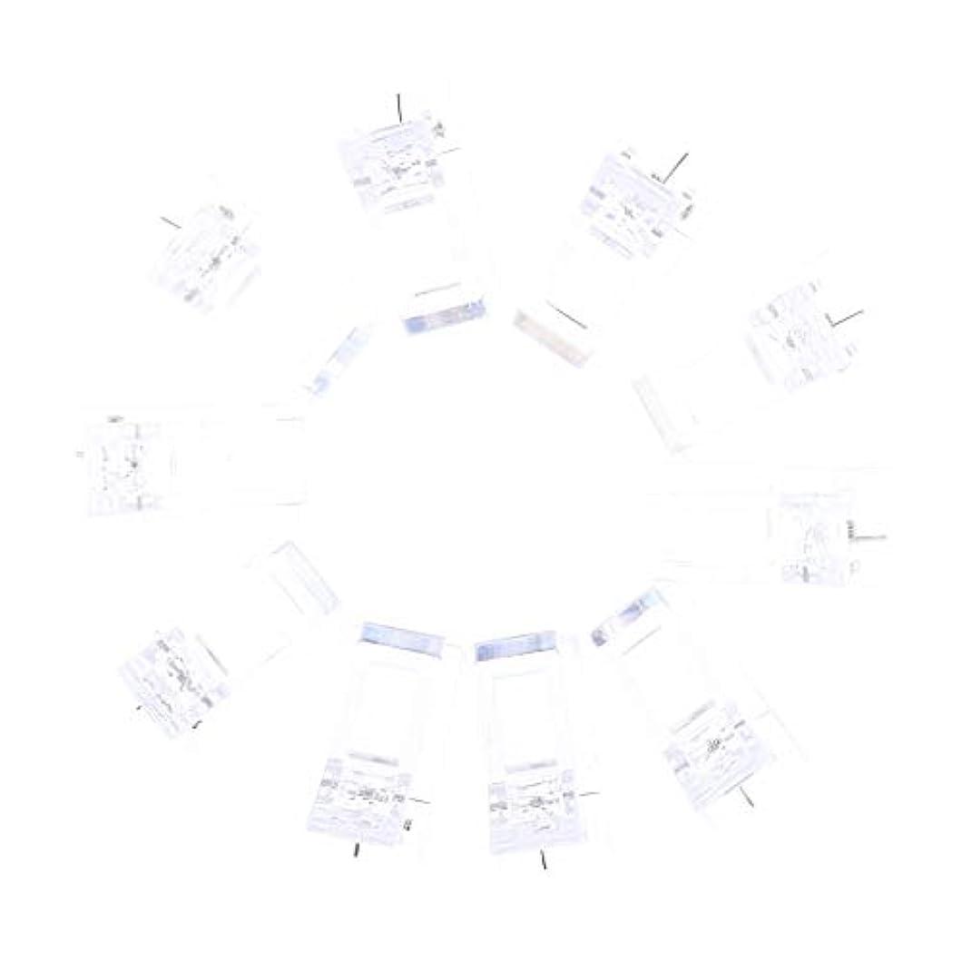 Perfeclan ネイルクリップ ネイル固定クリップ ネイルチップ ネイルアート UVゲルビルダツール 10個入り