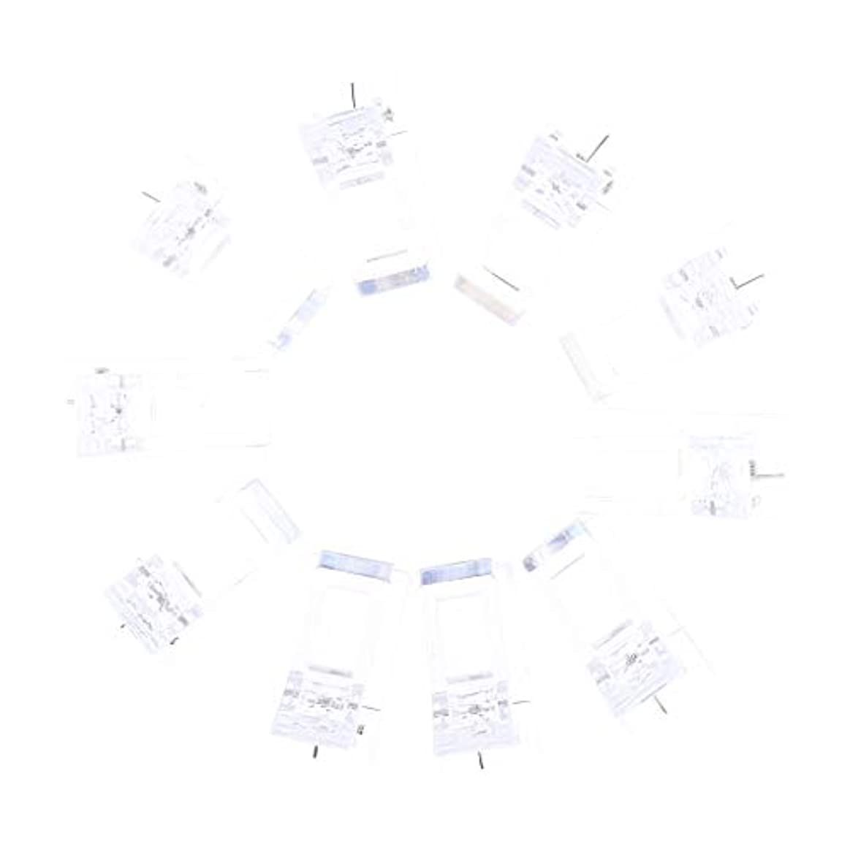 IPOTCH 10個セット ジェルネイル エクステンションクリップ ネイルチップ用 プラスチック クリップ