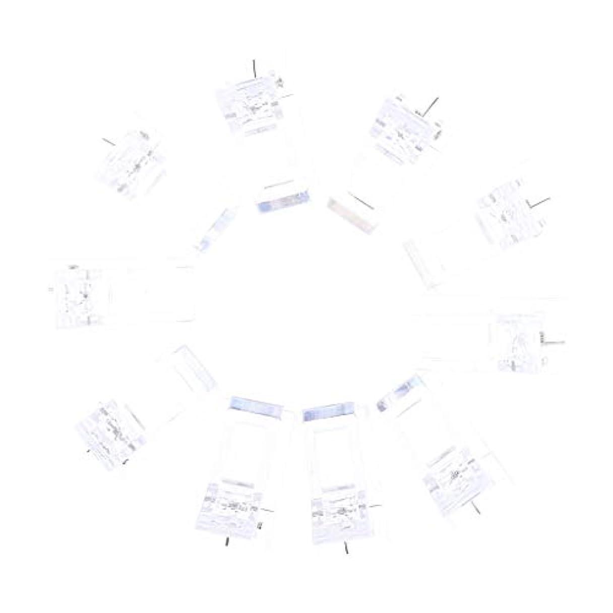 前提彼らベーコンPerfeclan ネイルクリップ ネイル固定クリップ ネイルチップ ネイルアート UVゲルビルダツール 10個入り