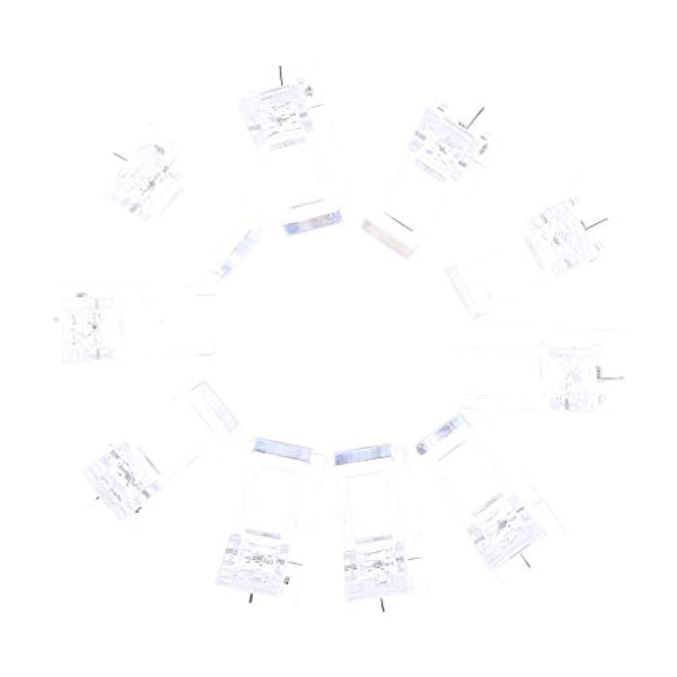 マーティンルーサーキングジュニア電池非武装化ネイルクリップ ネイル固定クリップ ネイルチップ ネイルアート UVゲルビルダツール 10個入り