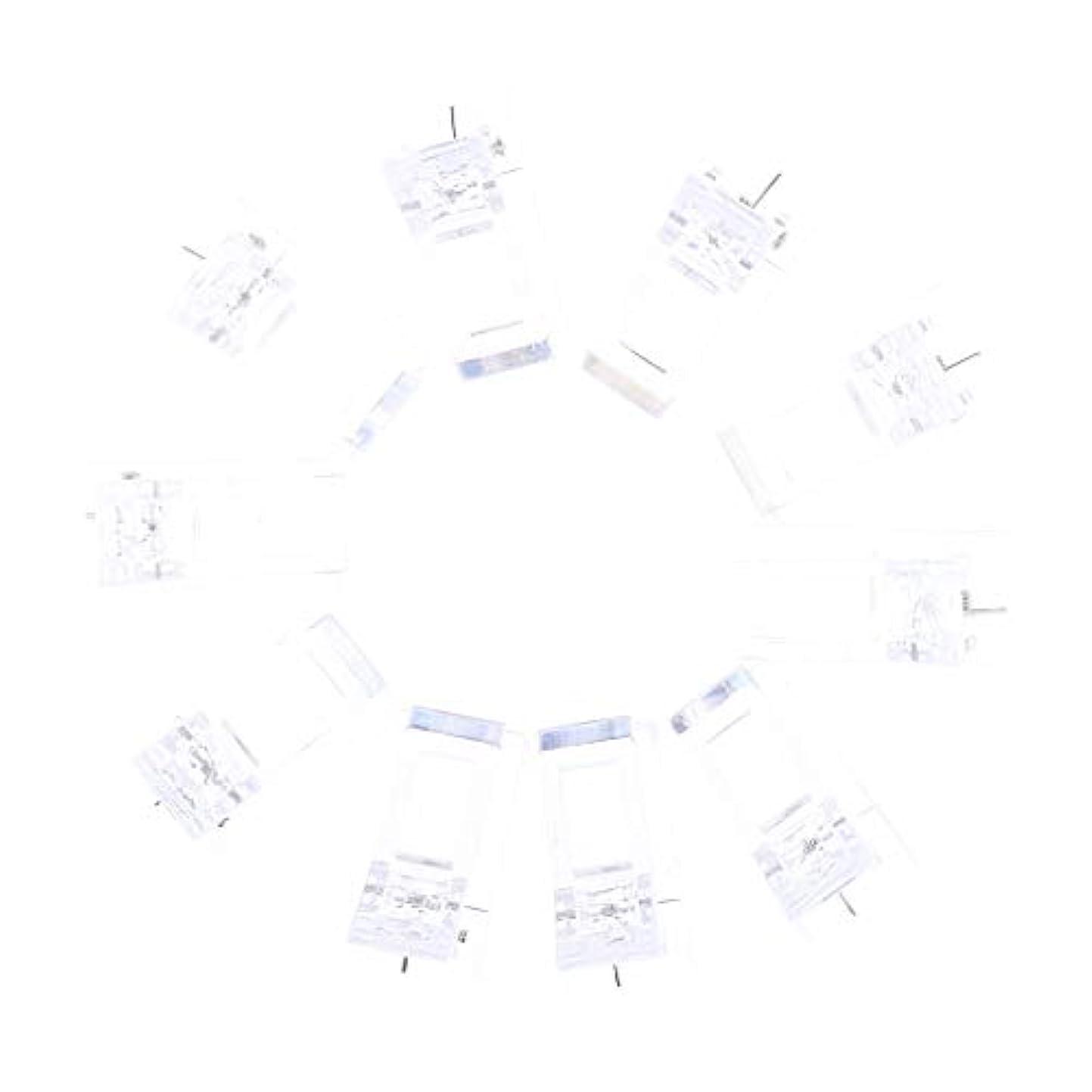 放置リレー不器用IPOTCH 10個セット ジェルネイル エクステンションクリップ ネイルチップ用 プラスチック クリップ