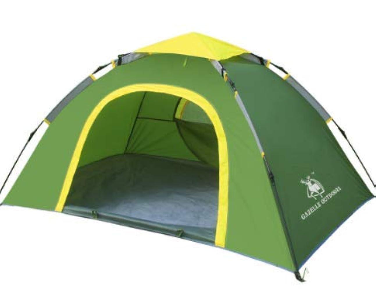 インタフェース僕の習熟度Feelyer 205 * 145 * 105センチ単層自動屋外キャンプテント防風防水日焼け止め強い換気構造安定した抗蚊カップル/家族 顧客に愛されて (Color : グリーン)