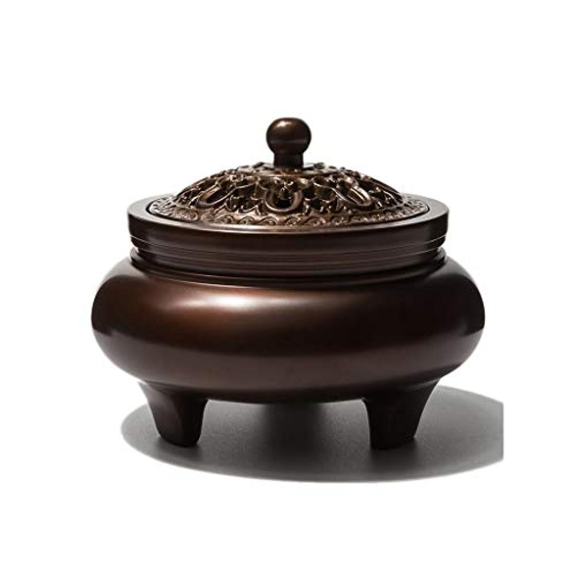 ワードローブ姉妹石鹸ホームアロマバーナー 銅香バーナーアロマテラピーホルダー純粋な銅茶道白檀炉屋内香バーナーレトロノスタルジア11.5センチ* 7.8センチ* 9センチ アロマバーナー