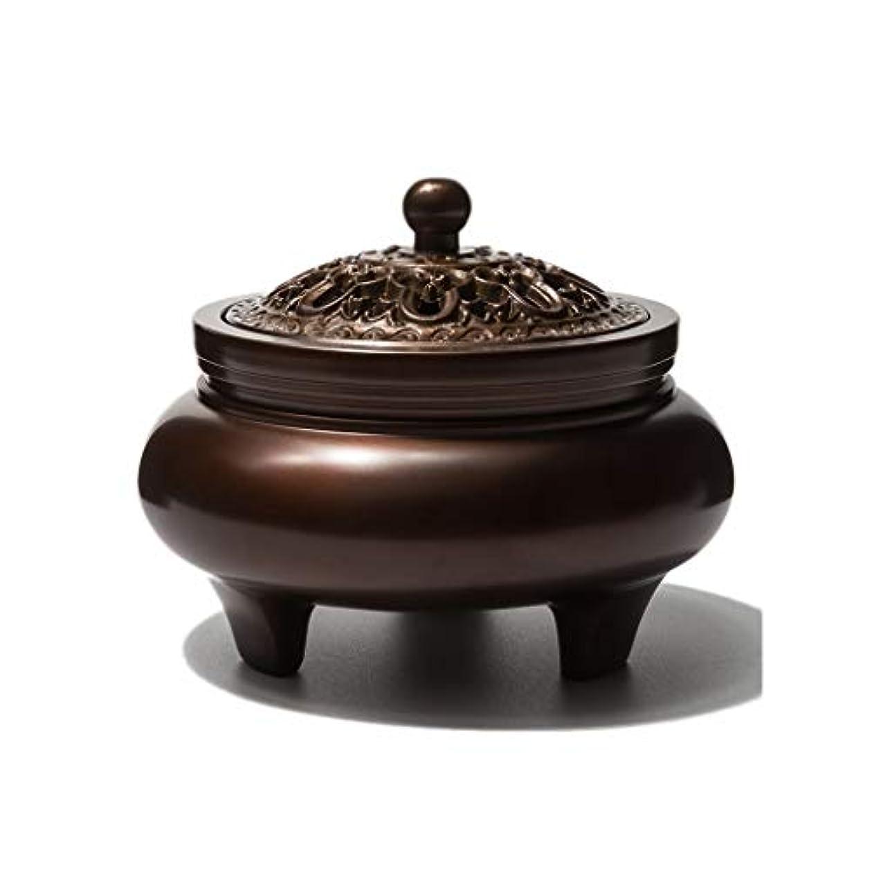 誓う引用フクロウ芳香器?アロマバーナー 銅香バーナーアロマテラピーホルダー純粋な銅茶道白檀炉屋内香バーナーレトロノスタルジア11.5センチ* 7.8センチ* 9センチ アロマバーナー