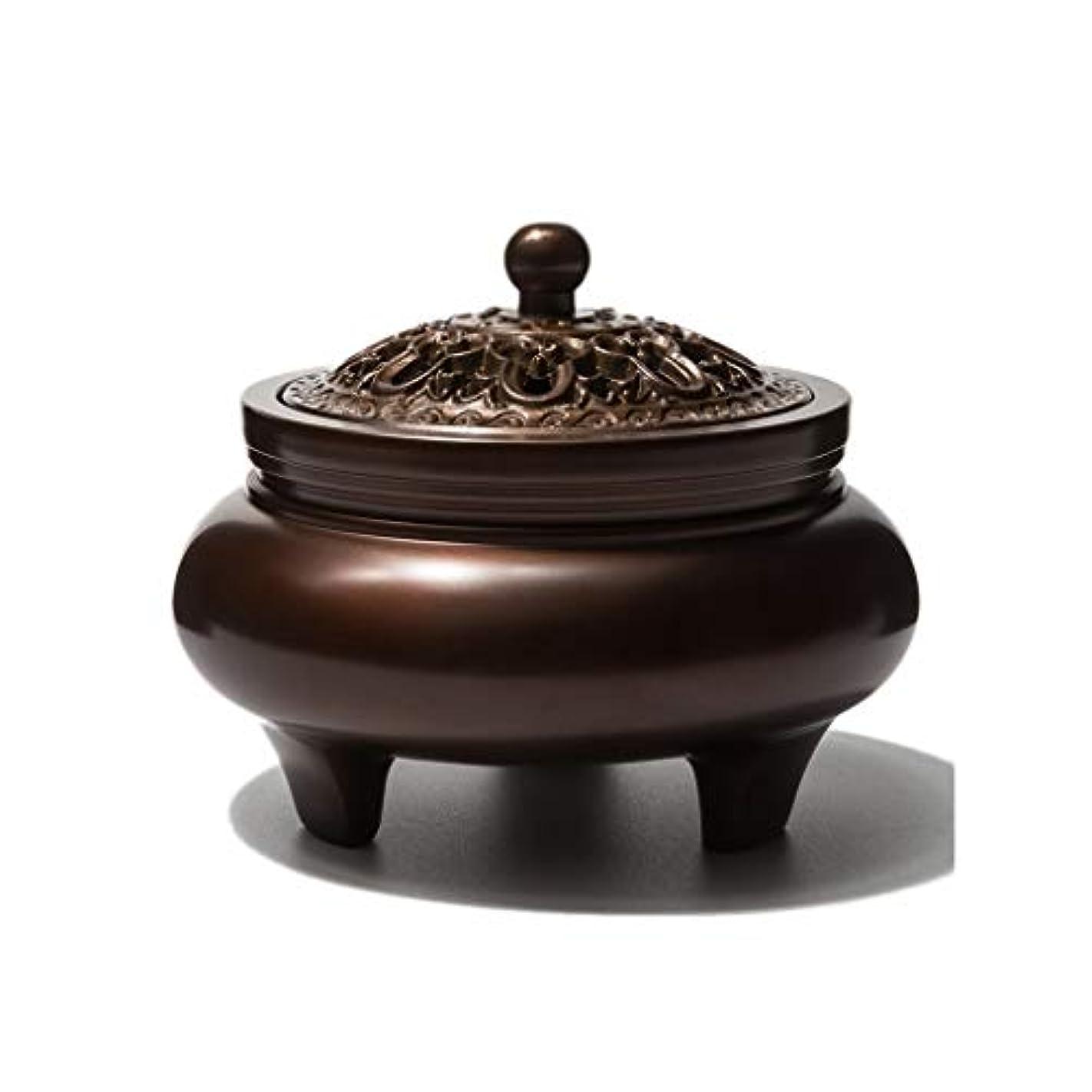 つらい真鍮イブニングホームアロマバーナー 銅香バーナーアロマテラピーホルダー純粋な銅茶道白檀炉屋内香バーナーレトロノスタルジア11.5センチ* 7.8センチ* 9センチ アロマバーナー