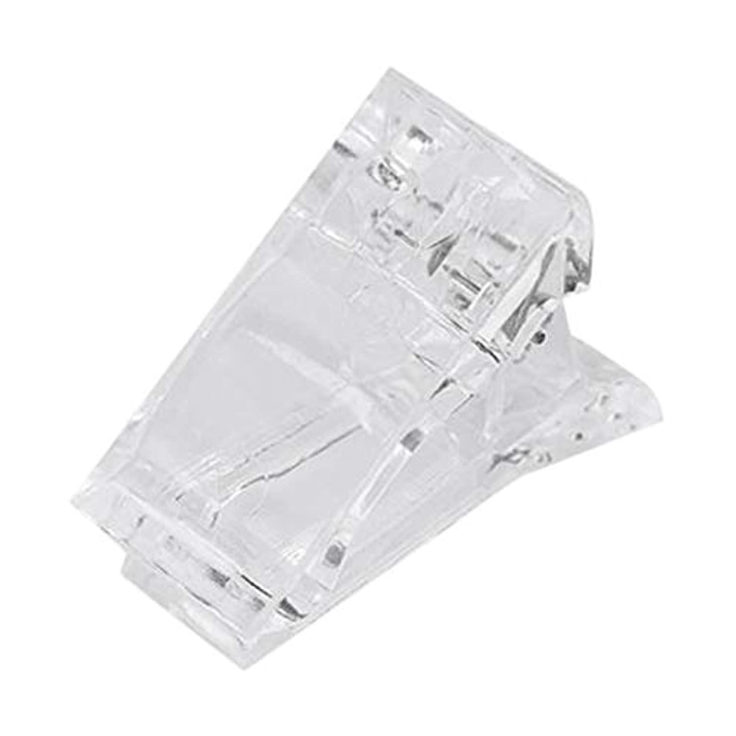 昼食北極圏研磨剤SODIAL ネイルのクリップ 透明指ポリクイック ビルディングジェルエクステンション ネイルアート マニキュアツール アクセサリー 偽ネイル