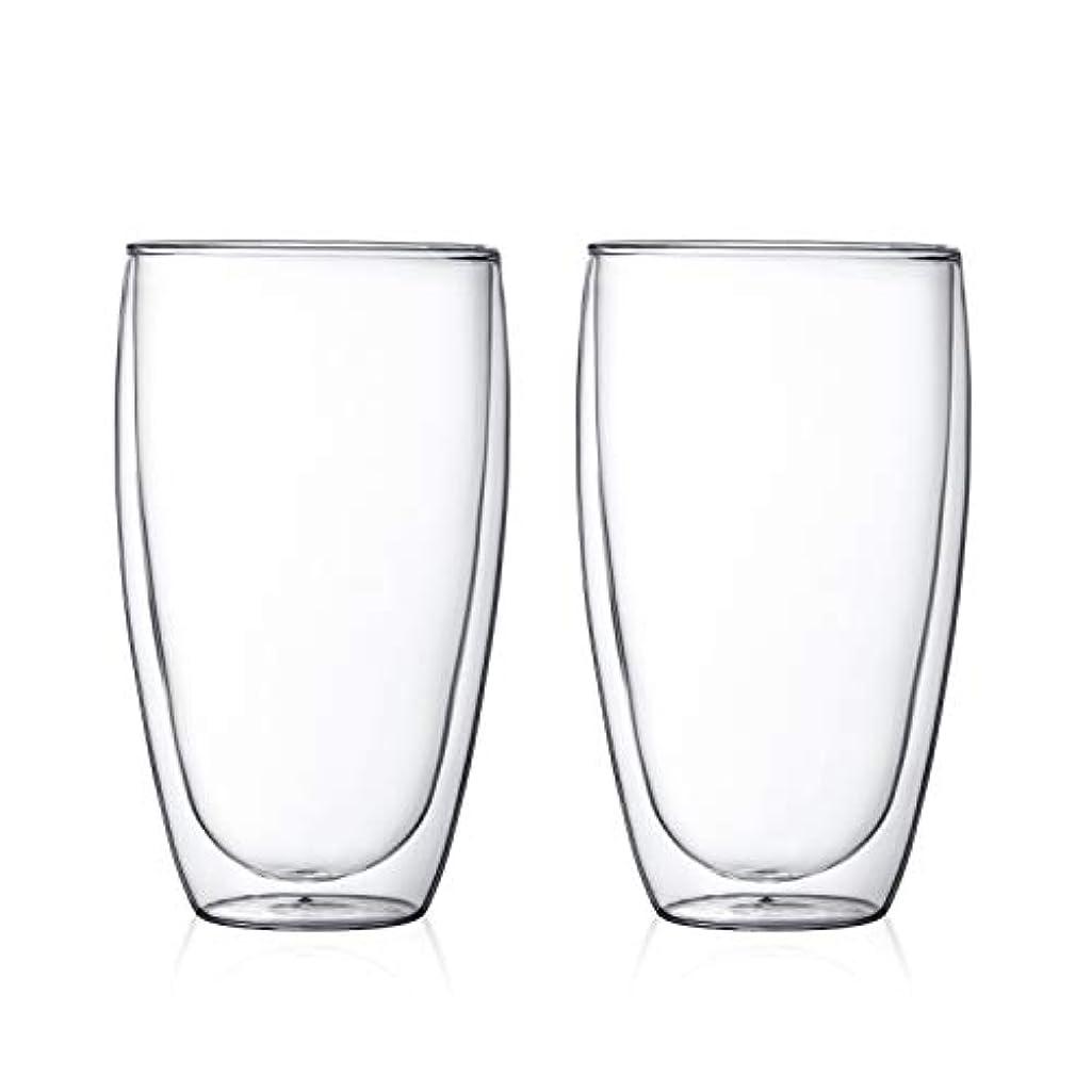 【正規品】ボダム ダブルウォールグラス 450ml クリア 8.3 × 10.2cm PAVINA 4560-10 2個入