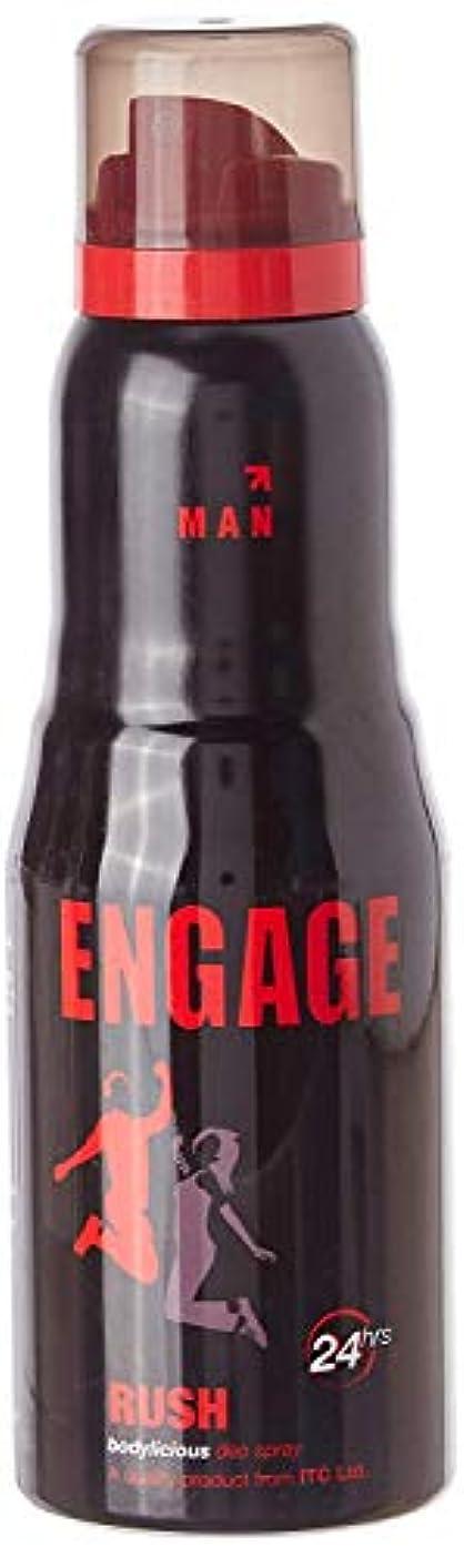 批評識別するボタンEngage Man Deodorant, Rush, 150ml / 165ml (Weight May Vary)