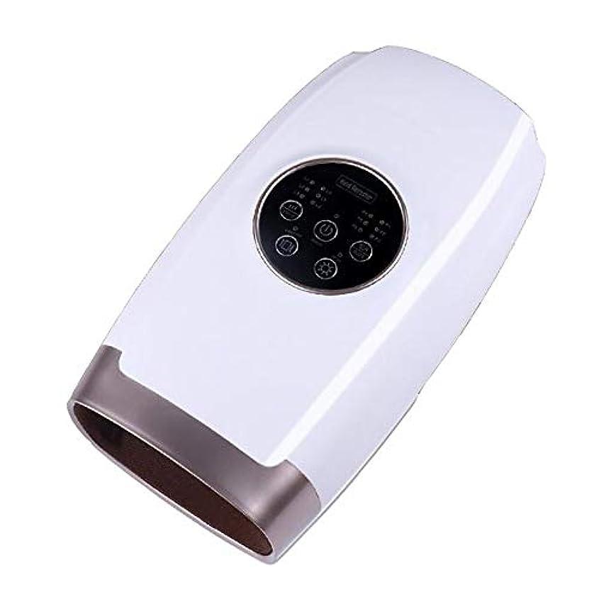アルミニウム一時停止ブラインドハンドマッサージャー ヒーター機能搭載 ハンドケア 手 ハンドマッサージ スマートタッチパネル 6速強度 6つの作業モード USBインターフェース エアバッグ包装機の設計 1127 (Color : White, Size : 11.6*6.2*4.5 inch)