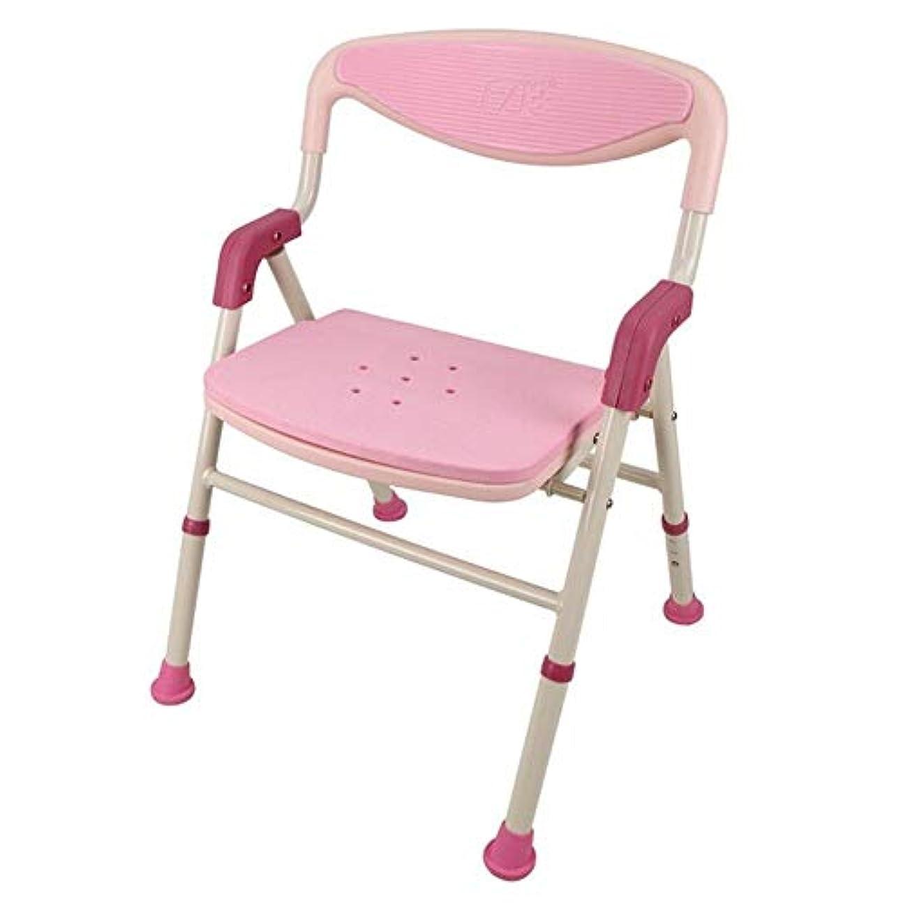 インフルエンザハイライトポスター浴室の腰掛けのアルミニウムシャワーの座席椅子の滑り止めの高さの調節可能な障害援助
