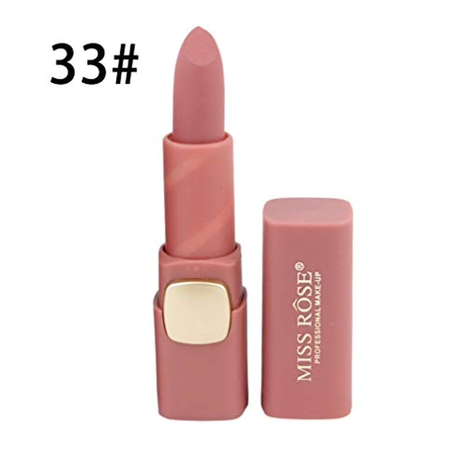受け入れた雇用指定するリップスティックロングラスティング女性の唇のメイクアップ口紅を着用するコンパクトサイズのマットリップスティック防水栄養簡単
