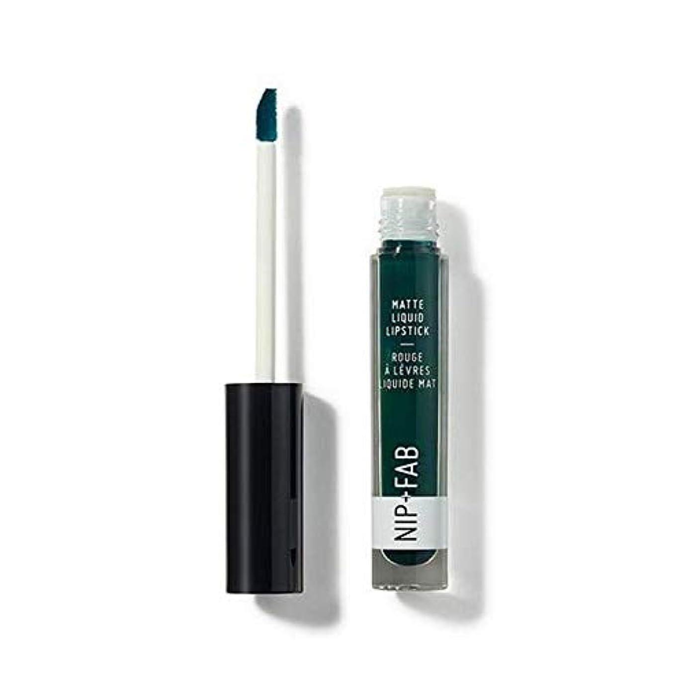 朝の体操をする大胆不敵見通し[Nip & Fab ] + Fabマット液状口紅クールミント65ニップ - Nip+Fab Matte Liquid Lipstick Cool Mint 65 [並行輸入品]