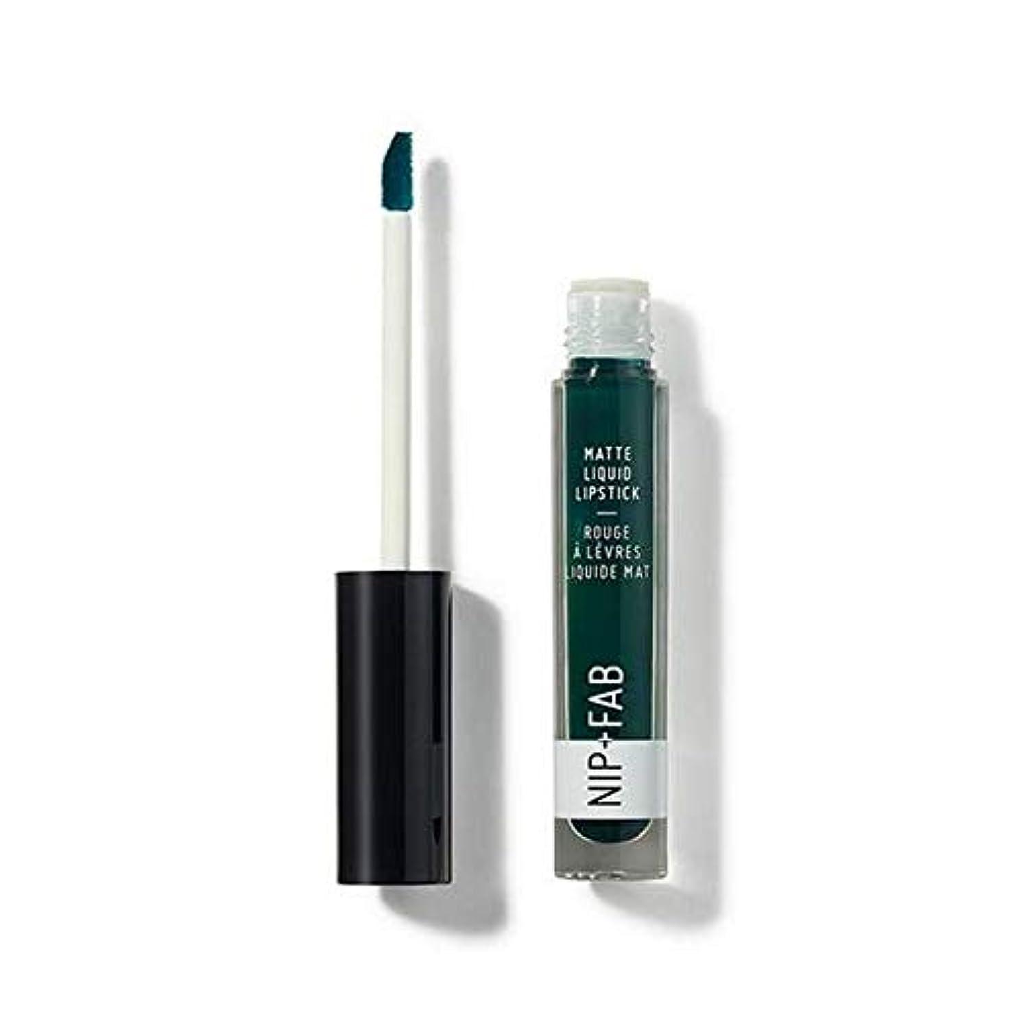 修士号増強組[Nip & Fab ] + Fabマット液状口紅クールミント65ニップ - Nip+Fab Matte Liquid Lipstick Cool Mint 65 [並行輸入品]