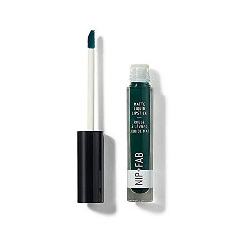 長老脅かすダイジェスト[Nip & Fab ] + Fabマット液状口紅クールミント65ニップ - Nip+Fab Matte Liquid Lipstick Cool Mint 65 [並行輸入品]