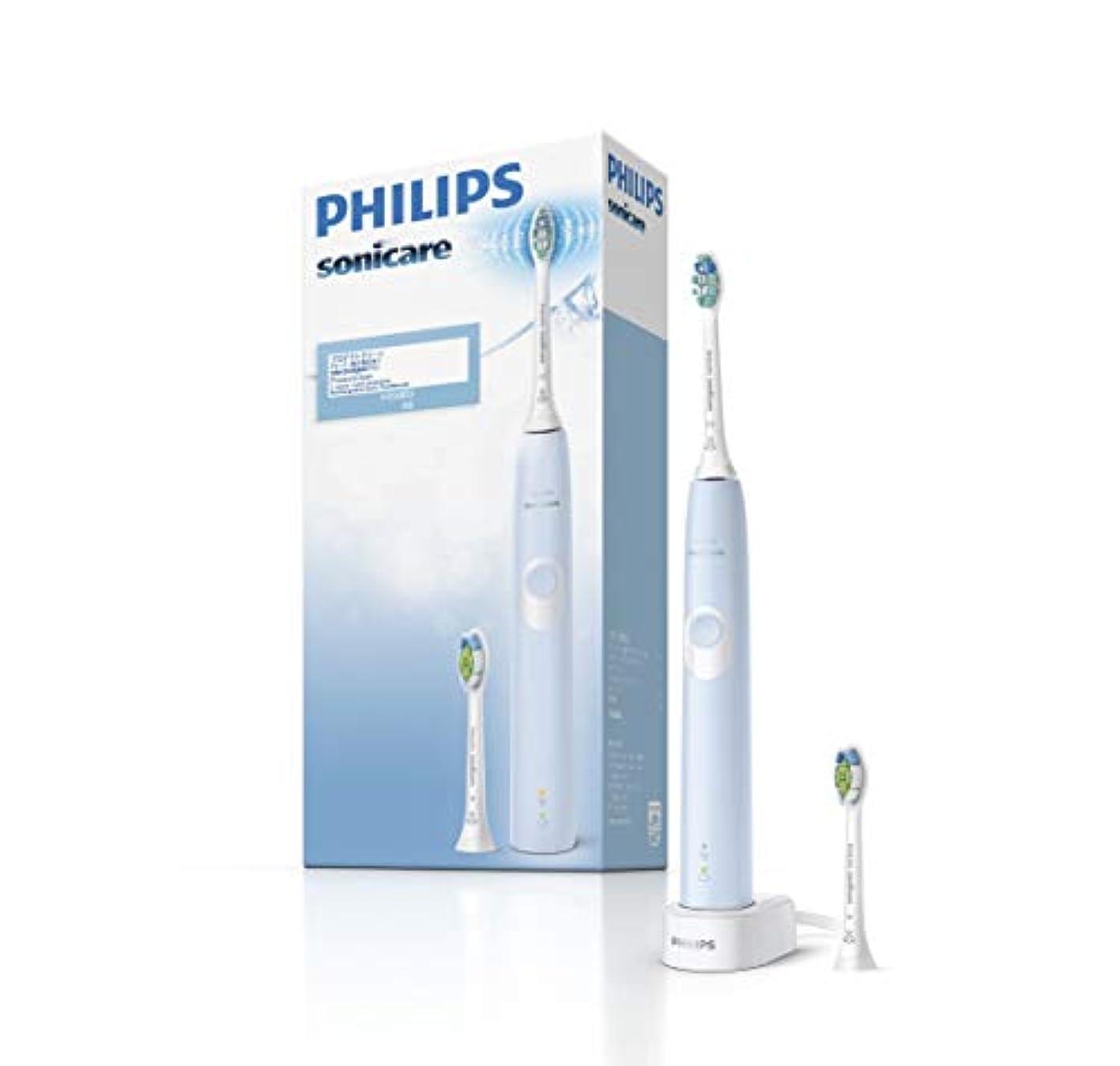 夢ミュートパパフィリップス ソニッケアー プロテクトクリーン 電動歯ブラシ ライトブルー HX6803/66