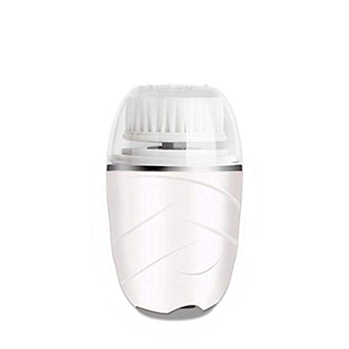ラケットテレビ局キャップHEHUIHUI- クレンジングブラシ、防水ディープクレンジングポア、電気剥離、にきび、アンチエイジングクレンジングブラシ(ピンク) (Color : White)