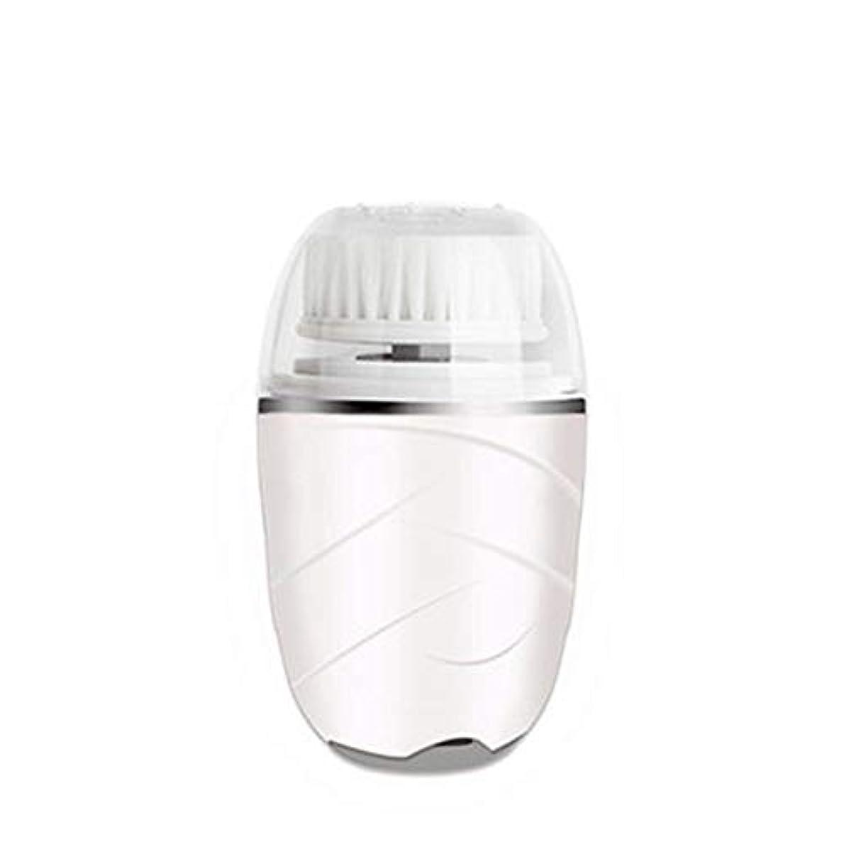 疎外する構築する排除HEHUIHUI- クレンジングブラシ、防水ディープクレンジングポア、電気剥離、にきび、アンチエイジングクレンジングブラシ(ピンク) (Color : White)