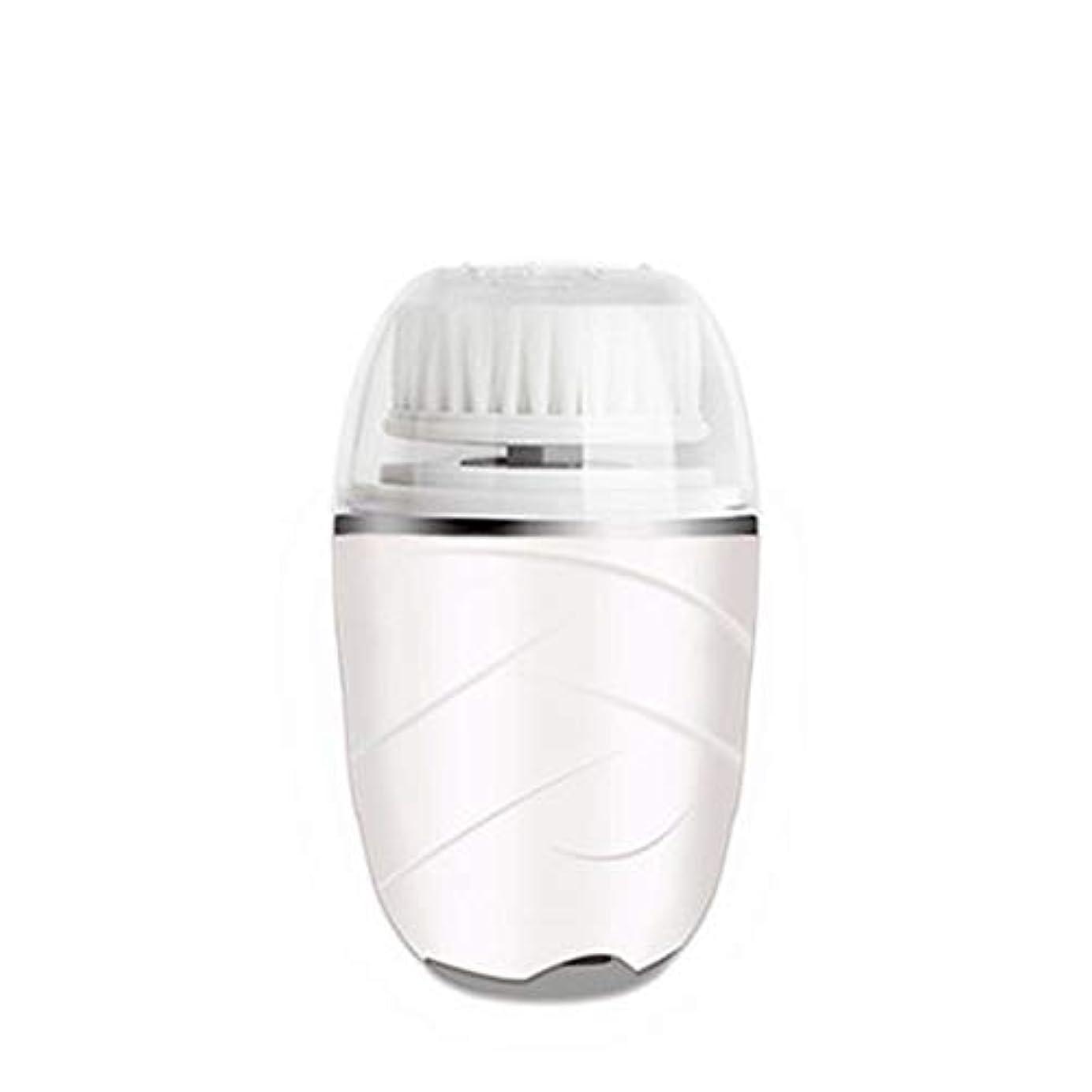 よろめく進行中ごちそうHEHUIHUI- クレンジングブラシ、防水ディープクレンジングポア、電気剥離、にきび、アンチエイジングクレンジングブラシ(ピンク) (Color : White)