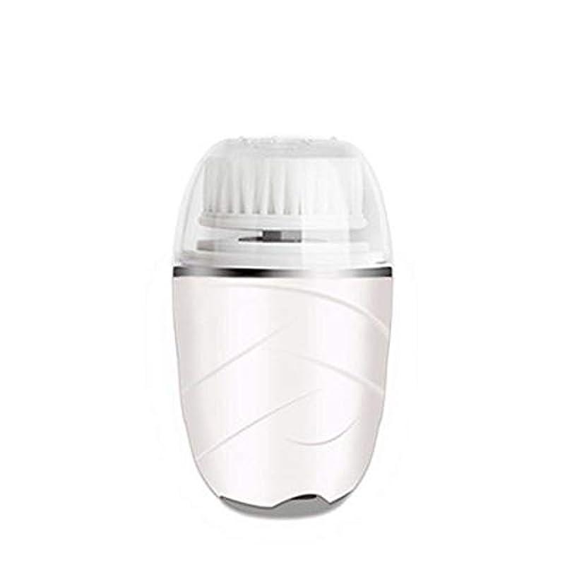 慰め一時的最も早いHEHUIHUI- クレンジングブラシ、防水ディープクレンジングポア、電気剥離、にきび、アンチエイジングクレンジングブラシ(ピンク) (Color : White)