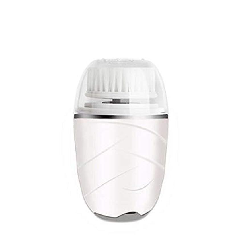 相続人値くぼみHEHUIHUI- クレンジングブラシ、防水ディープクレンジングポア、電気剥離、にきび、アンチエイジングクレンジングブラシ(ピンク) (Color : White)