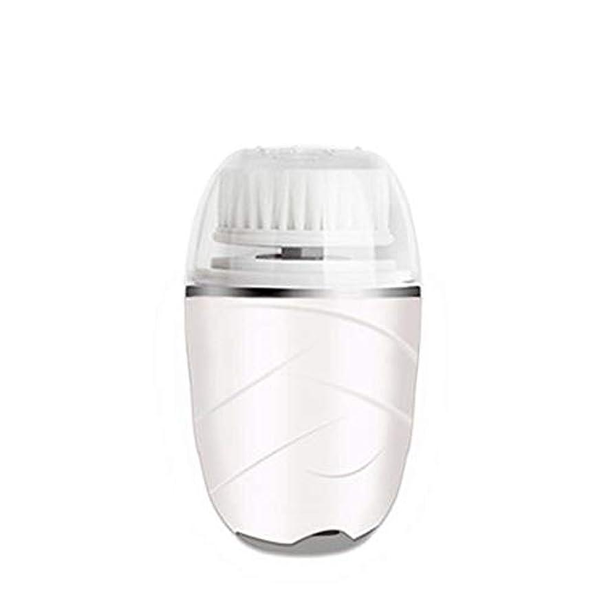 リレー悪行代理人HEHUIHUI- クレンジングブラシ、防水ディープクレンジングポア、電気剥離、にきび、アンチエイジングクレンジングブラシ(ピンク) (Color : White)