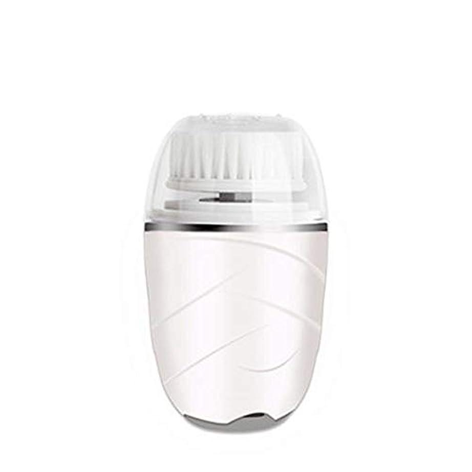 フェデレーション倫理的シルエットHEHUIHUI- クレンジングブラシ、防水ディープクレンジングポア、電気剥離、にきび、アンチエイジングクレンジングブラシ(ピンク) (Color : White)