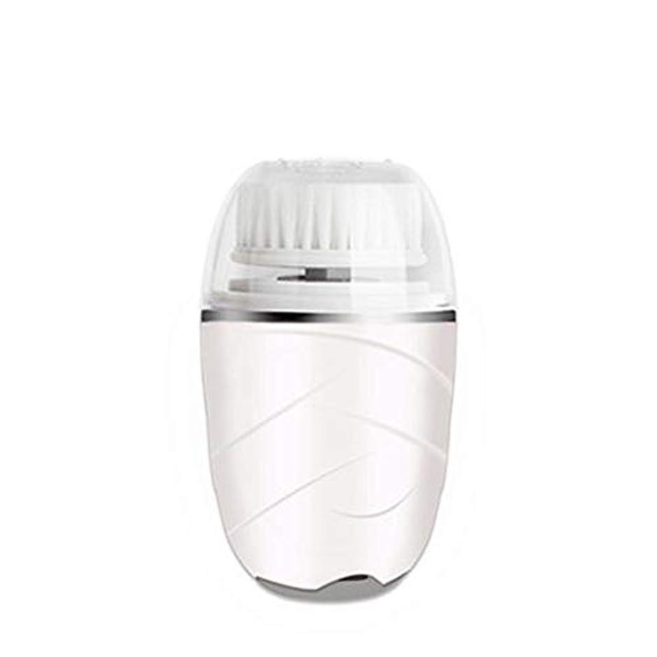 過敏なグラフ文HEHUIHUI- クレンジングブラシ、防水ディープクレンジングポア、電気剥離、にきび、アンチエイジングクレンジングブラシ(ピンク) (Color : White)